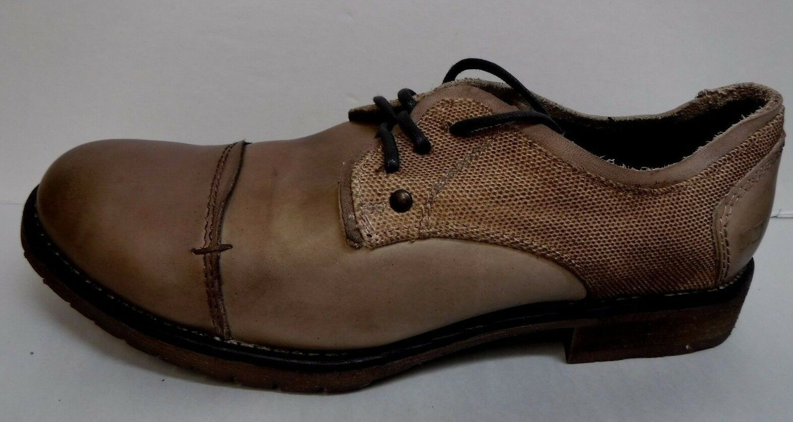 Bed Stu Size 8.5 Dirty Mocha Leather Oxfords New Mens Shoes
