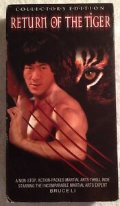 Return-Of-The-Tiger-PV-VHS-Bruce-Li-VERY-RARE-OOP-HTF-Collectors-Edition