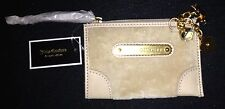 JUICY COUTURE  BEIGE COIN PURSE KEY CHAIN WALLET &CHARMS RRP£49.50 NOW £22.50