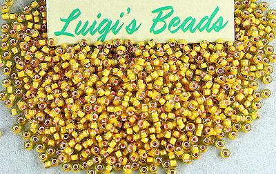 11/0 Round Toho Japan Glass Seed Beads #302-Jonquil/Apricot 10g