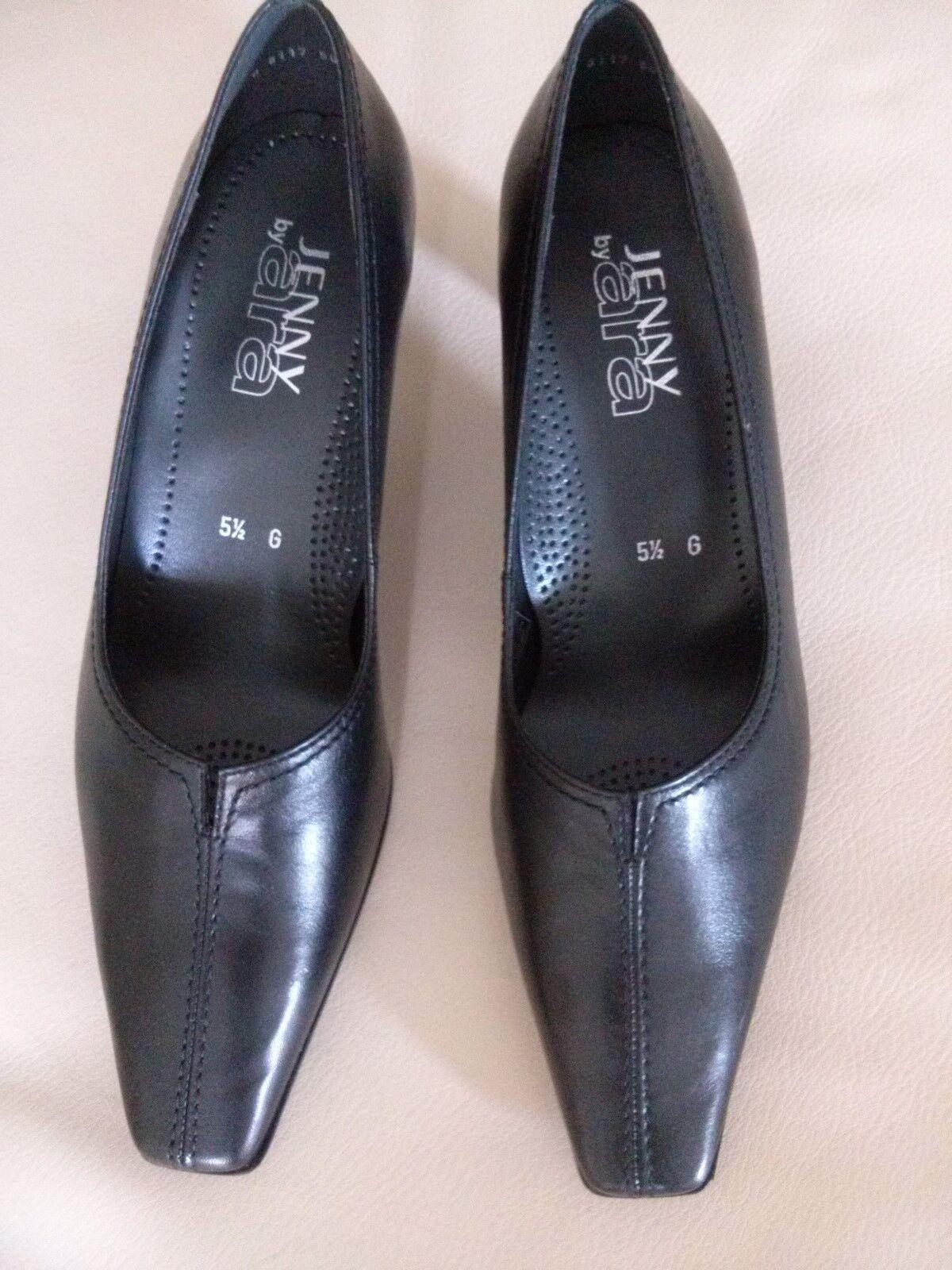 Schuhe (Pumps), ara, Leder, schwarz, Gr. 5 ½, NEU