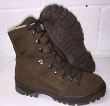MEINDL BROWN SUEDE HIGH LIABILITY DESERT COMBAT BOOTS - 8 Wide , British Army
