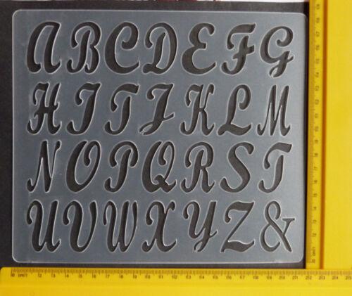Plástico//PVC//gofrado//plantilla//alfabeto//Caja Superior//Art//Flexible//A4//Bendy