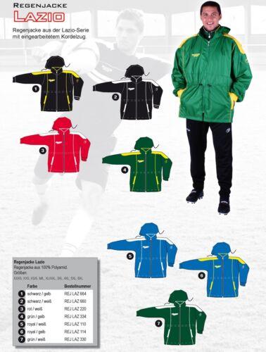 LAZIO unisex Regenjacke Jacke Regen-Jacke Übergrößen bis 6XL viele Farben