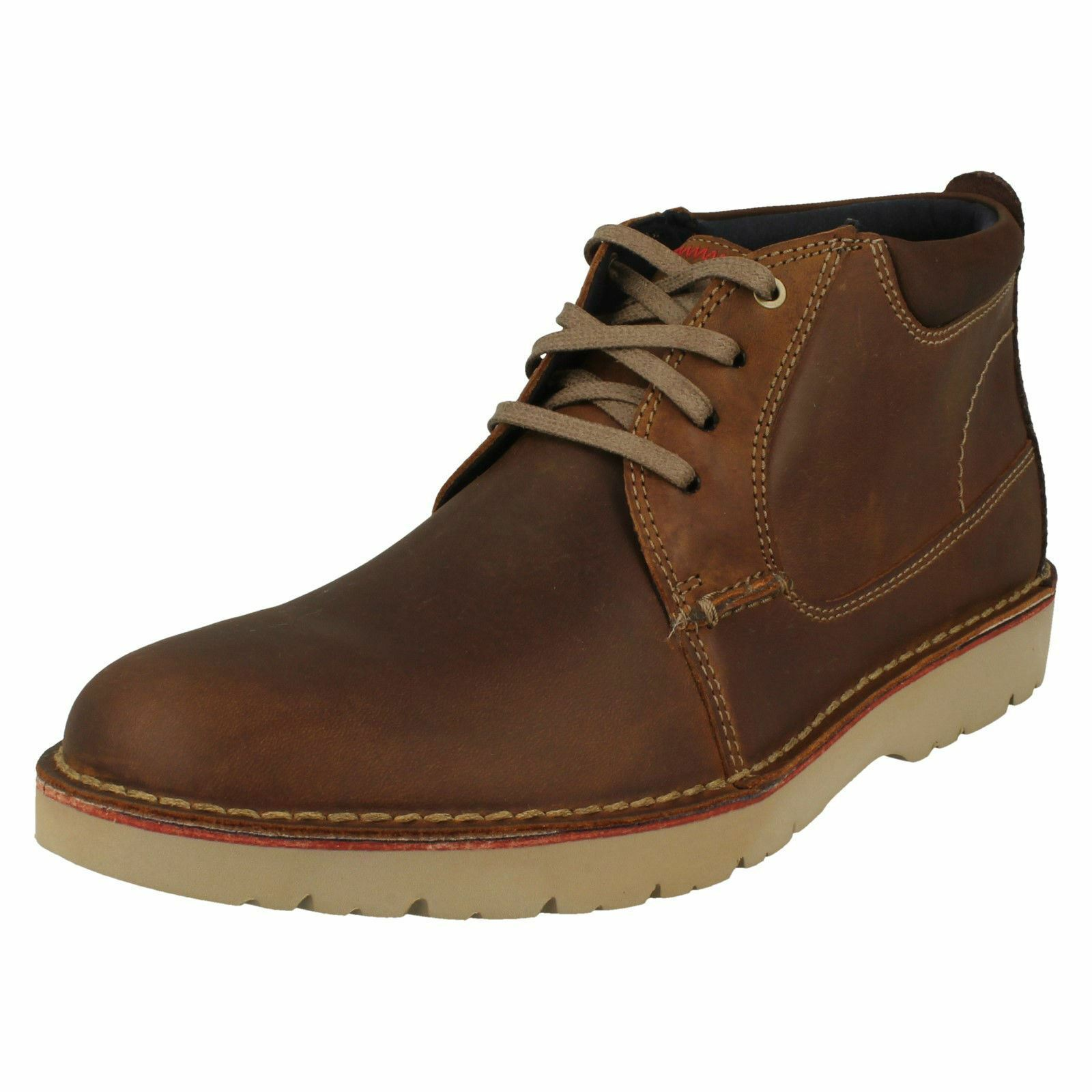 Mens Clarks Casual Lace Up Boots Vargo Mid