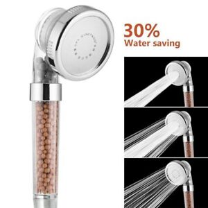 Shower-Head-300-High-Turbo-Pressure-40-Water-Saving-Laser-Ionic-3-Filters