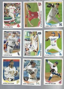 2 Update 2013 Topps Gold Parallel //2013 Series 1 U Pick Complete Your Set