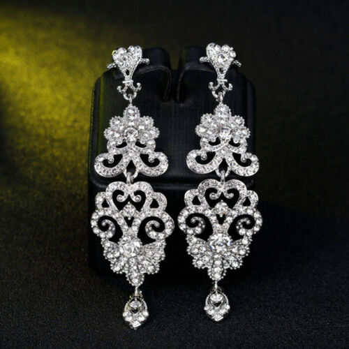 Fashion Jewelry Crystal Mariage Boucle d/'Oreille pour Femmes Strass Soirée Mariage Bal