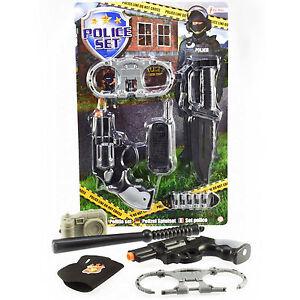 polizeiset polizei set f r karneval fasching polizei verkleidung kinder blister ebay. Black Bedroom Furniture Sets. Home Design Ideas