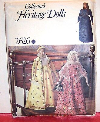 Vogue 2626 Collector/'s Heritage Inaugural Dolls Pattern