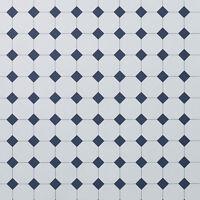 Dolls House 12th Scale - Tile Floor Paper (plain Blue)