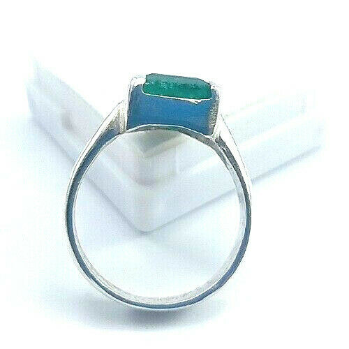 Women Rings 3.90g Natural Green AVENTURINE PURE SILVER ...