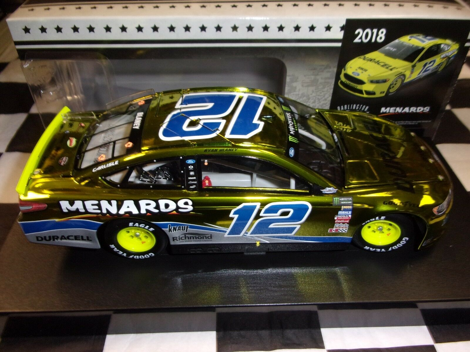 Ryan Blaney Menards Darlington 2018 1 1 1 24 Action NIB NASCAR ARC color Chrome a74084