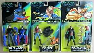 Kenner BATMAN FOREVER  LOT Transforming Bruce Wayne Robin Grayson MOC