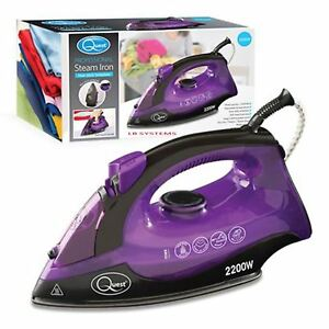 New-2200w-Electric-Compact-Steam-Spray-Iron-Non-Stick-Teflon-Soleplate-Home-Iron