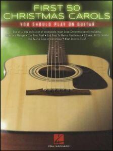 Ambitieux 50 Premiers Chants De Noël Vous Devriez Jouer Sur Guitare Tab Musique Livre De Noël-afficher Le Titre D'origine Facile à Utiliser