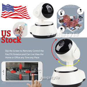 US Wireless HD 720P IP WIFI Camera Home Network Security Night Vision Pan Tilt