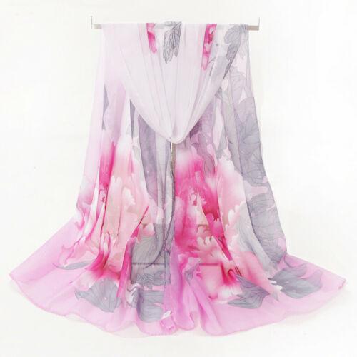Fashion Women Flower Printing Long Soft Wrap Scarf Shawl Scarves Autumn Scarf L