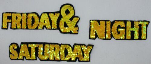 Friday /& Saturday Night Flippable Sequin