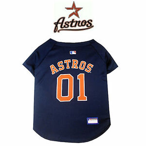 reputable site d6d6c 575c2 Details about MLB Pet Fan Gear HOUSTON ASTROS Dog Jersey Dog Shirt for Dogs  BIG SIZE XS-2XL