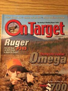 On Target Oct/ Nov 2004, Ruger P345, Thompson Omega