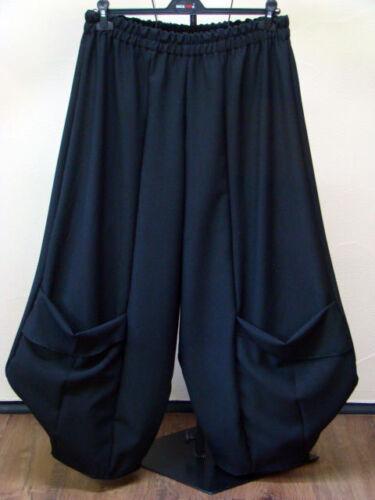 MYO Lagenlook MEGA-Ballonhose BIG-Taschen BLACK Gr 48,50,52,54 XXXL  XXL