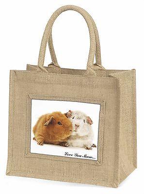Meerschweinchen 'Liebe, die Sie Mama' Große Natürliche Jute-einkaufstasche
