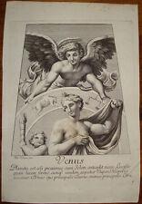 Stampa antica old print Venus Venere dorigny raffaello raphael 1695 planet