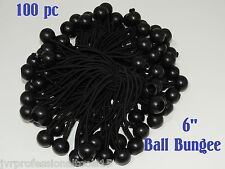 100 Piece 9 Ball Bungee Cord Tie Down Plastic Toggle Balls Straps For Tarp Tents Canopies 9IN WHITE CHINA