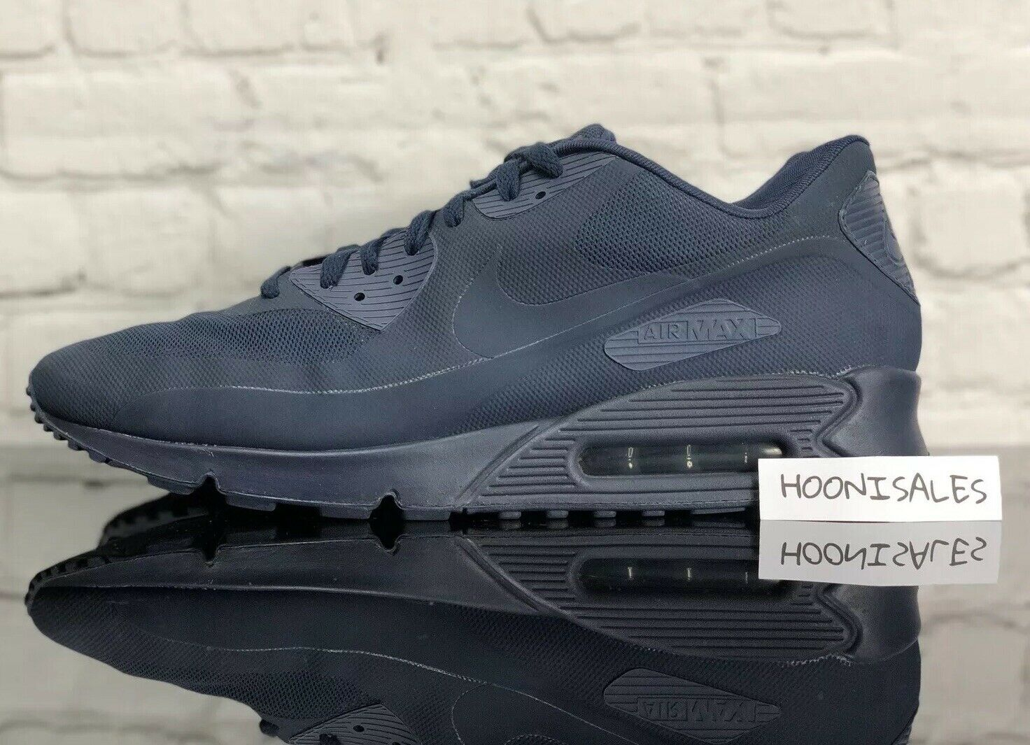 Mens Nike Air Max 90 Hyperfuse Independence Day USA Running Shoes Midnight Navy