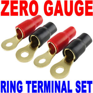 """20 Piece Set Wire Ring Terminal Stud Gold 8 AWG Gauge 5//16/"""" Connector"""