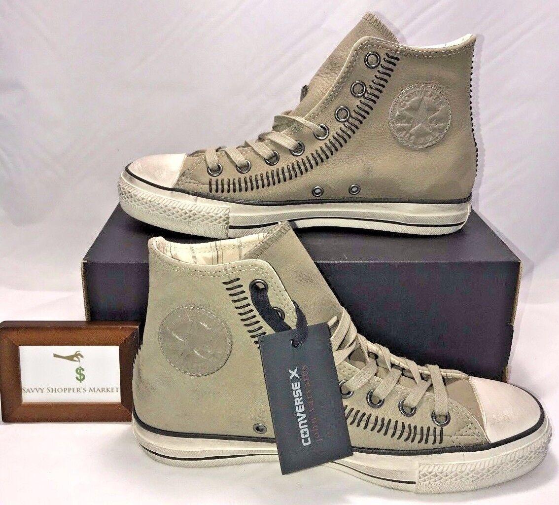 Converse X Mens Size 8 John Varvatos Ct Hi Drill Grey Stitched Sneakers  200