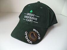 New Irish GREEN baseball drinking cap shamrock bottle opener cotton beer