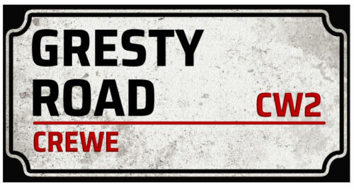 CREWE ALEXANDRA Inspiré Football Terrain T Shirt-Rétro Street Sign Tee FC