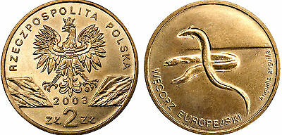 """Toad/"""" UNC Poland 1998-2 zlotych /""""The Animals of the World"""