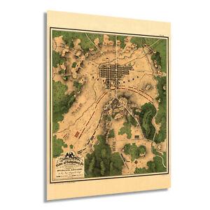 HISTORIX-Vintage-1863-Map-of-The-Battle-of-Gettysburg-Pennsylvania