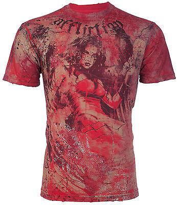 AFFLICTION Mens T-Shirt DESTINY Tattoo Motorcycle Biker Gym MMA UFC Jeans $66