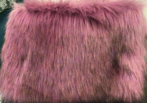 Ladies DESIGNER Fluffy Feather Clutch FAUX FUR Bag Purse Fold Over Runway Flap