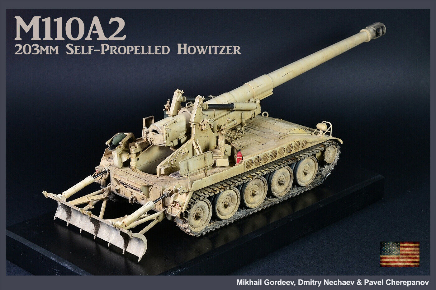 PRO-BUILT 1 35 US 203mm M10A2 SPG (Irak 2003, OIF) -färdig modelll (IN-STOCK)