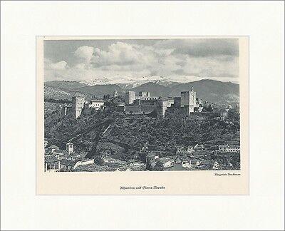 Alhambra und Sierra Nevada Betische Kordillere Alpinismus Original 1386