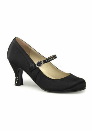 Funtasma FLAPPER-20 3 Inches Heel Round Toe Mary Jane With Rhinestone Buckle