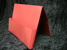 12x Red Document Wallets Full Flap Foolscap 420gsm 2118005 Gusset 35mm Guildhall