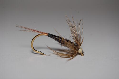 CK-March Brown nassfliegen variantes par 3 pièces
