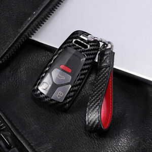 8702c909903a81 3 buttons carbon fiber Key Fob Case Cover for Audi Q7 A4L TTS TT A3 ...