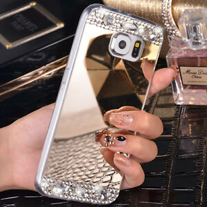 best loved 20057 33c7f Luxury Mirror Phone Case For Samsung Galaxy S7 Edge Bling Diamond ...