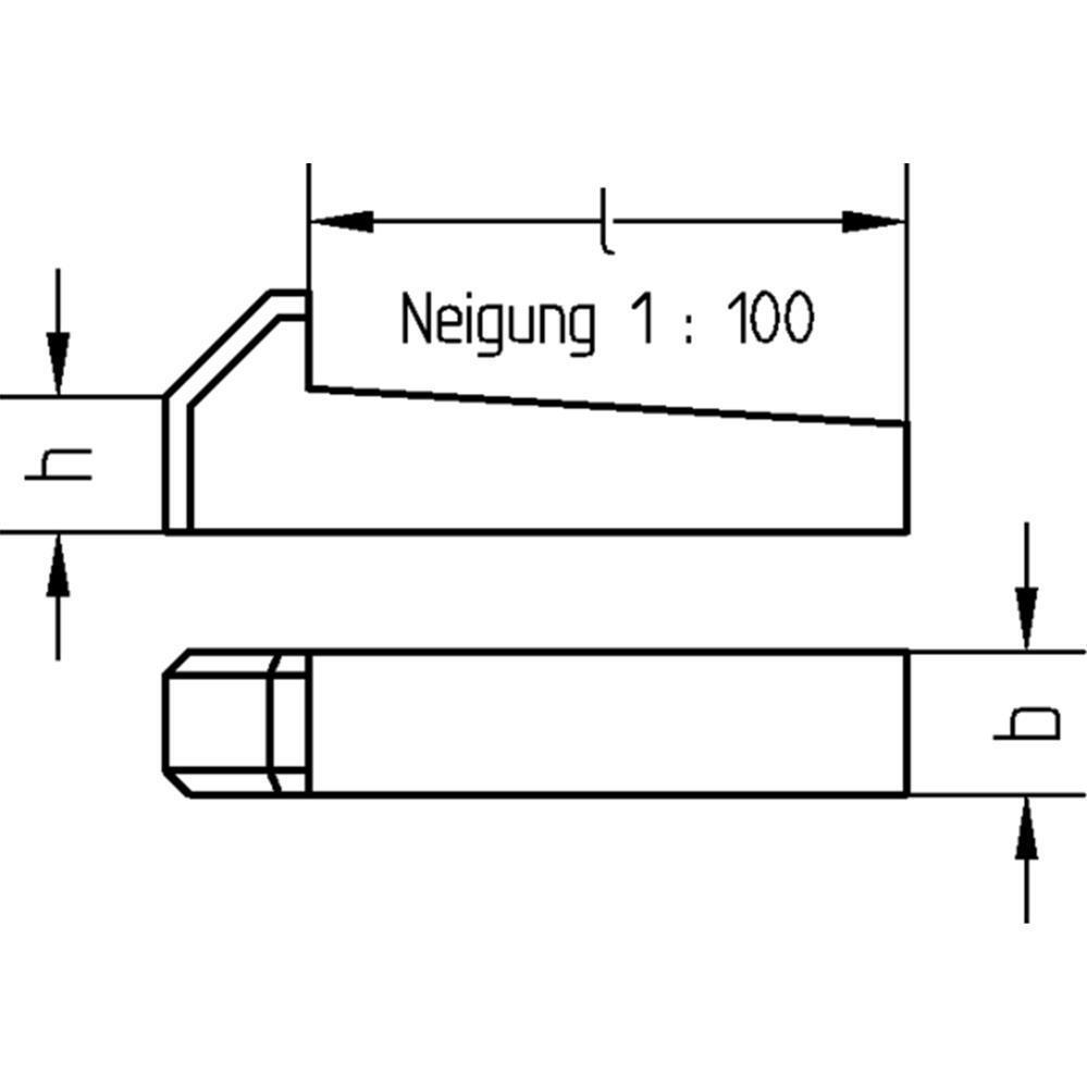 Nasenkeile Nasenkeil - DIN 6887 - Stahl blank - Dresselhaus