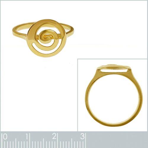 Taille 62 Disponible Bague Spirale Plaqué Or 18 carats Neuve Femme