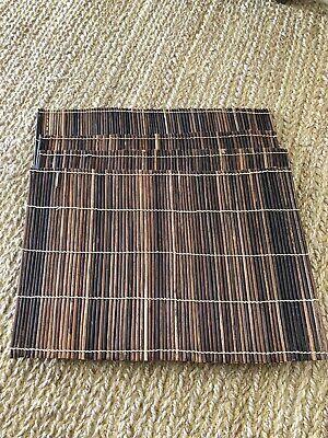 Decorative Zanzibar Brown Wood Set Of 4 Placemats Brand New Fabulous Gift Ebay