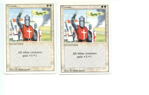 Crusade MTG Revised Edition Magic the Gathering NM