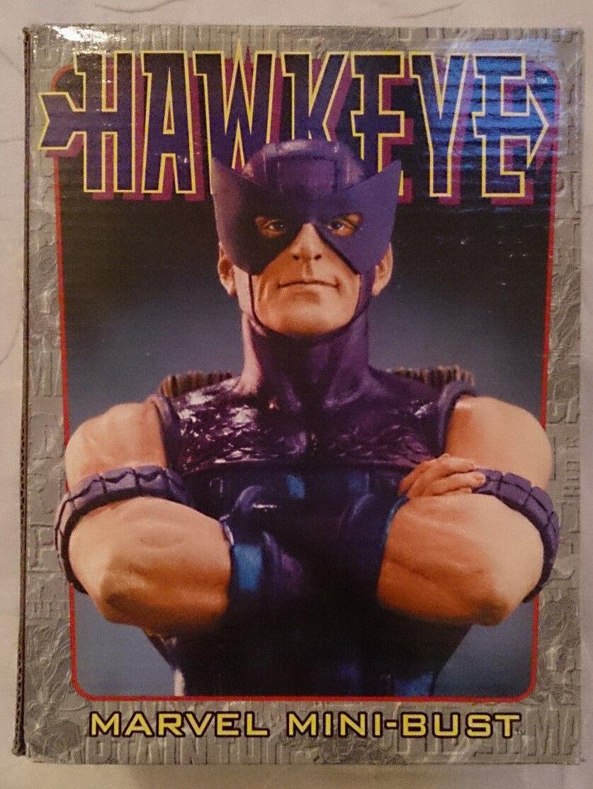 Vengadores Hawkeye Marvel Comics Bowen Mini estatua Busto Con Caja